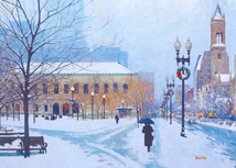 Copley Square Boston Winter Holiday Cards